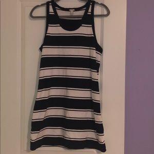 Jcrew striped tank top dress